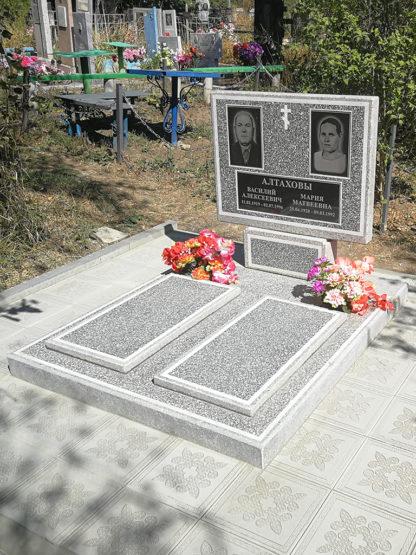 Памятник из мраморной крошки двойной закрытый