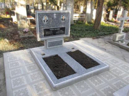 Памятник из мраморной крошки двойной прямой