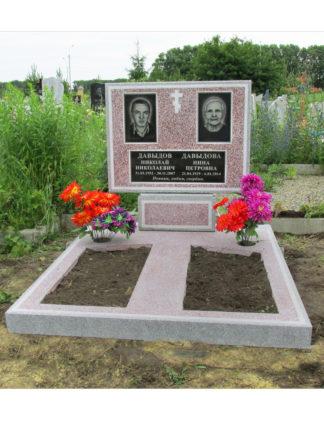 Памятник из мраморной крошки двойной красный