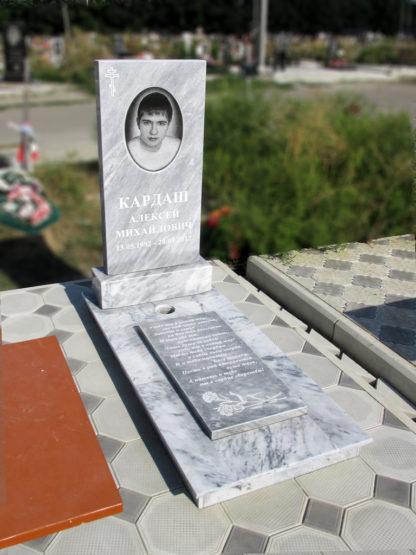 Памятник из мрамора 100х50 прямой